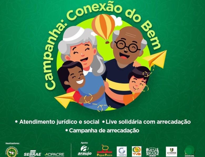 """Defensoria Pública e parceiros lançam campanha solidária """"Conexão do Bem"""""""