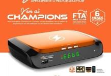 Atualização Azamerica Champions 4K V1.07 Correções de Áudio