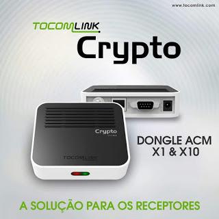 Atualização Dongle Tocomlink Crypto X1 HD V1.012