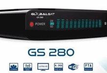 Atualização Globalsat GS280 HD V1.88 IKS e SKS Ativos