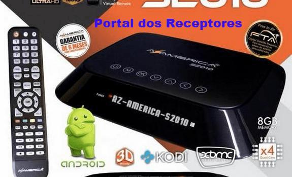 Atualização Azamerica S2010 4K Android Corrido