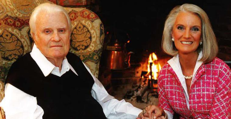 Billy Graham com sua filha, Anne.