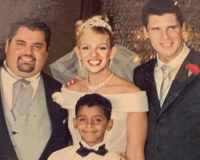 Tid Hernandes, Fernanda, Douglas (em cima), e Gabriel (em baixo).