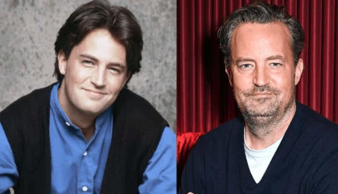 Matthew Perry é Chandler Bing em Friends.