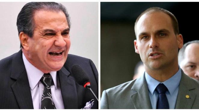 Pastor Silas Malafaia faz críticas a Eduardo Bolsonaro na internet.