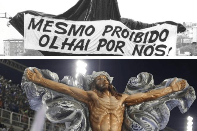 Imagem de Jesus Cristo censurada pela Igreja Católica no desfile 2018 da Mangueira.