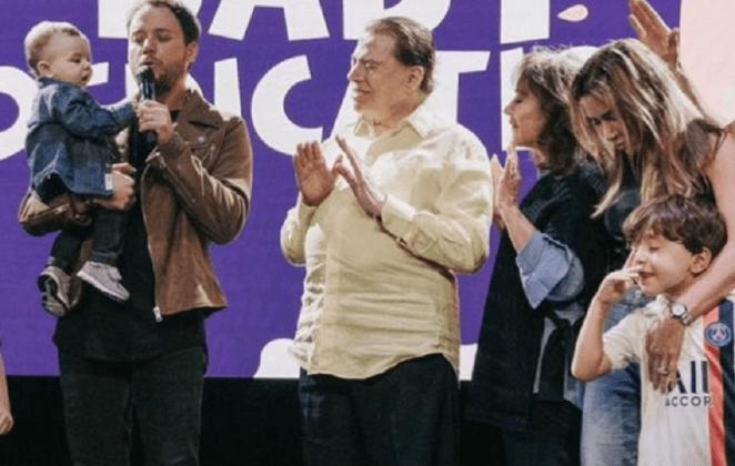 Silvio Santos consagra neto na igreja de André Valadão.