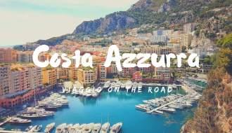 in auto in Costa Azzurra itinerario on the road