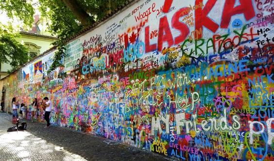 Muro di John Lennon Praga