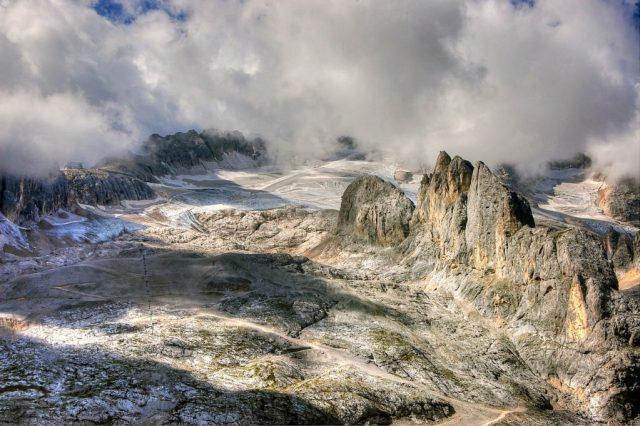 Marmolada e ghiacciaio che scompare