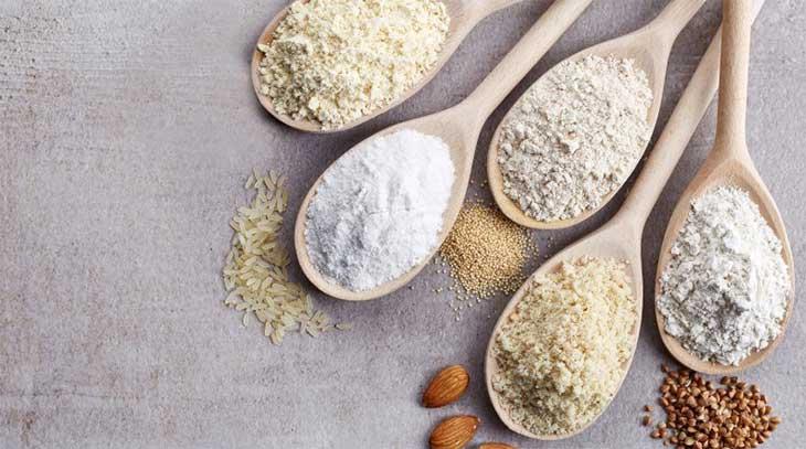 Farina integrale, farina biancha, farina senza glutine