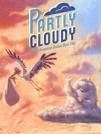 parcialmente nublado pixar poster