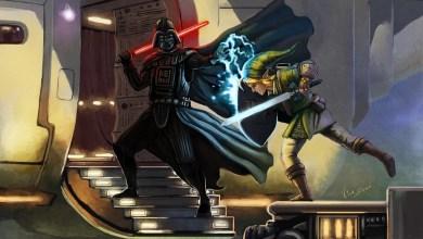 Foto de PicArt: Darth Vader vs Link! Quando o lado negro da força encontra a triforça! [Made In Brazil]