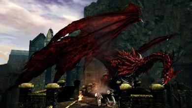 Foto de Dark Souls será difícil. Quanto? Um lobo gigante com uma espada gigante na boca. Que tal?
