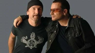 """Foto de Bono e The Edge: mostrando que """"voz e violão"""" não é coisa de barzinho! [YouTube]"""