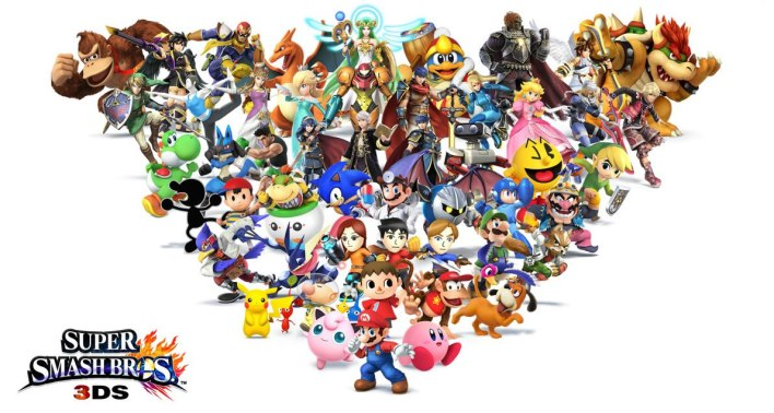 roster smash bros 3ds