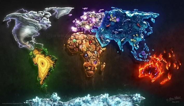 mapa mundi elemental