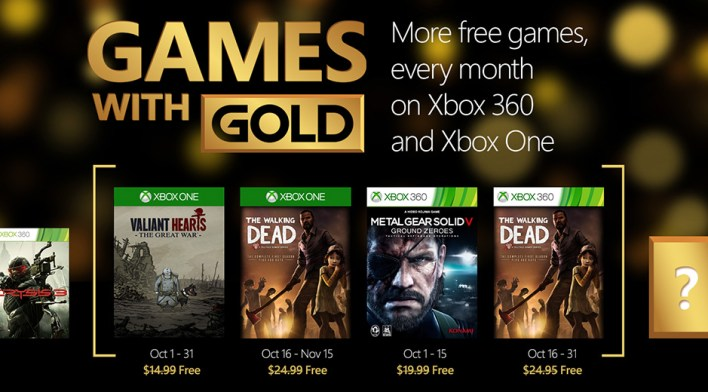 Games with Gold Outubro 2015