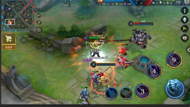 Arena of Valor Battle Screen 2