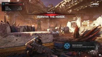 Gears 5 Horda - HUD Wave Advance