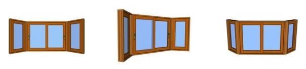 Janelas Bay Window - Madeira - Esquadrias de madeira - Portalmad