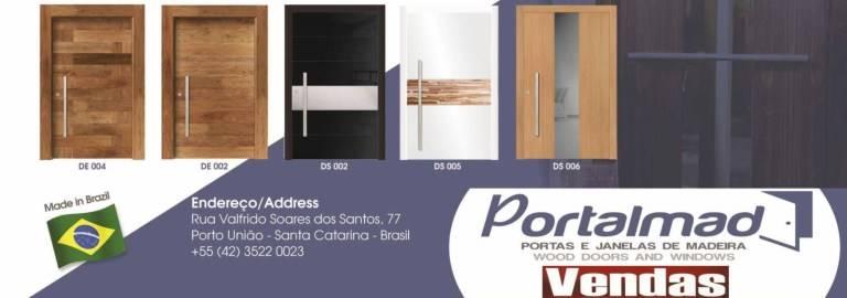 Modelos - Portas de Madeira - Maciças - Vendas - Esquadrias de Madeira - Porta de Entrada
