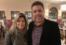 Paula Mattos e o empresário Wander Cavarzan