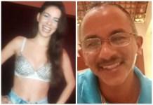 Jaqueline Santos e Manoel Gomes - Foto Reprodução LIVE