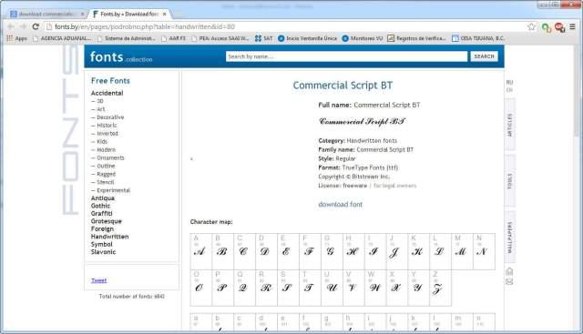 Windows - Instalar nuevo estilo de fuente en Windows - Descargar Fuente
