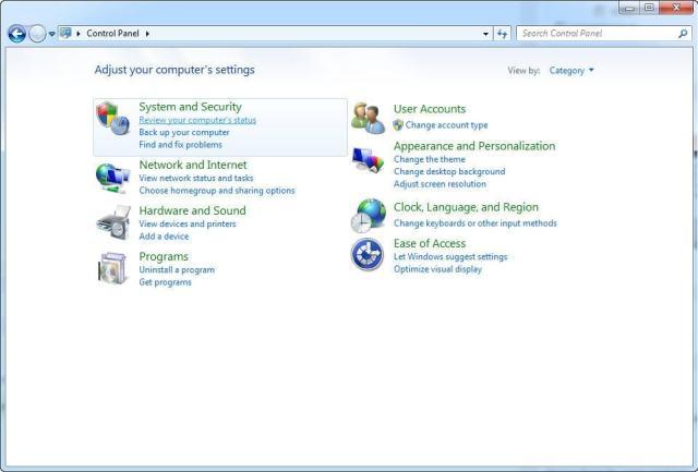 Control Panel - Instrucciones para desinstalar System Center 2012