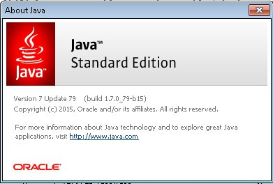 About Java - Windows 7
