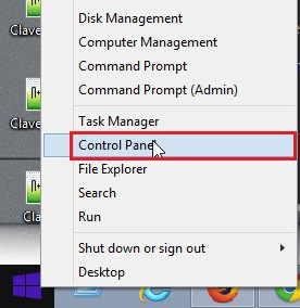 Abrir Control Panel - Windows 8