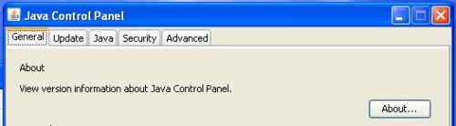 Java Control Panel Windows XP