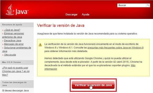 Verificar la Version de java 2