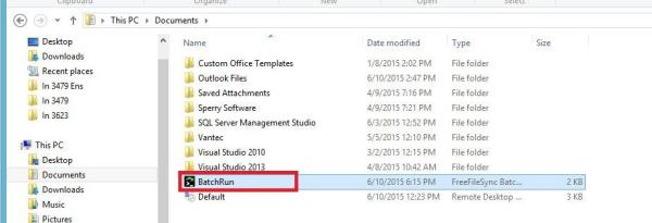 FreeFileSync - Crear respaldo de archivos - Ruta archivo batch