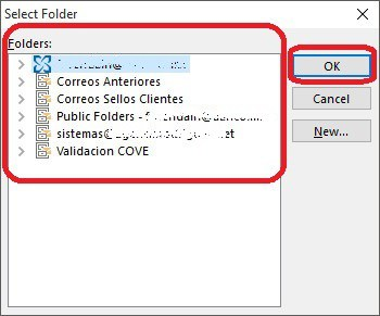 Ejecutar VBScript Copiar los correos de Outlook-3