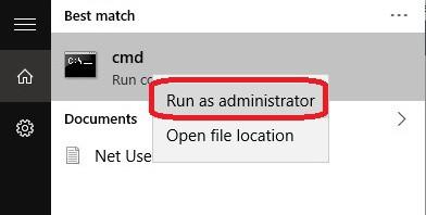 Restablecer el adaptador de red - CMD
