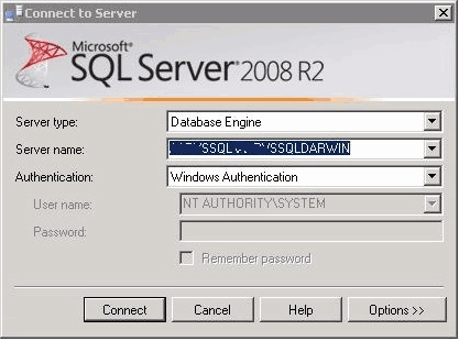 acceder-a-sql-server-connect-nt-authority