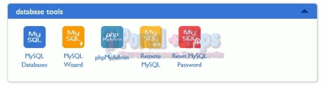 bluehost-cpanel-database-menu