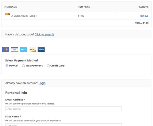 Easy digital downloads pago
