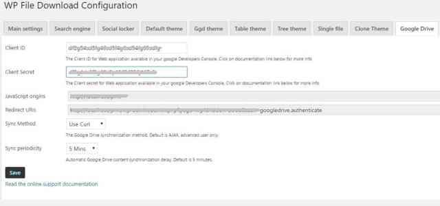 Wp file download joomunited 9 google drive
