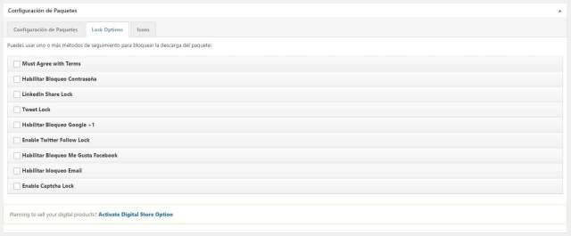 Wordpress download manager opciones de bloqueo