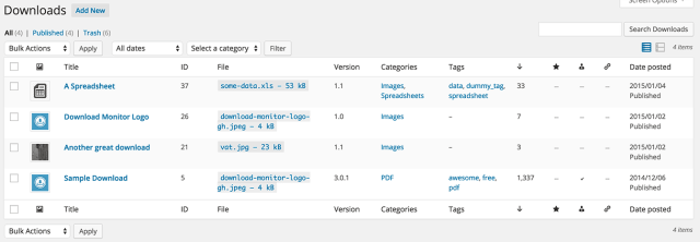Wordpress download monitor archivos