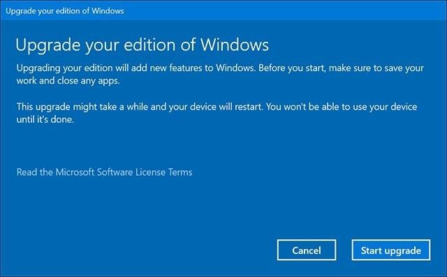 Windows 10 home a pro iniciar actualizacion