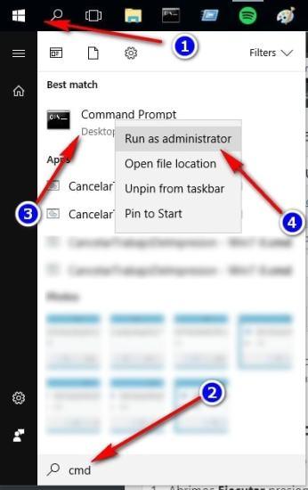 Abrir Command Prompt Como Administrador