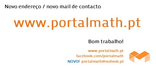 novo endereço www.portalmath.pt