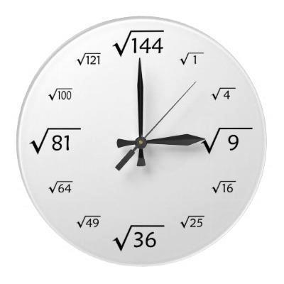 Relógio Raiz Quadrada portalmath