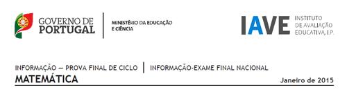 Informações Conteúdos Provas Finais Exames 2015 IAVE