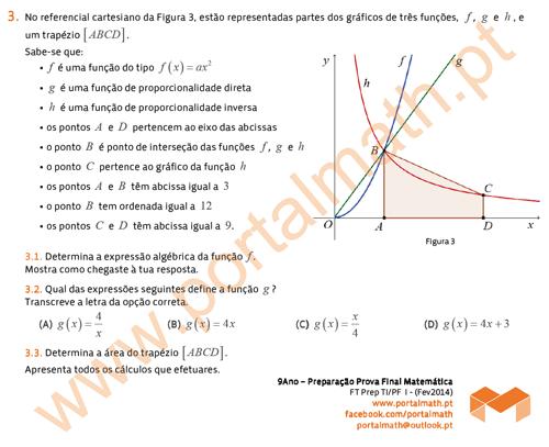 9Ano Preparação Prova Final de Matemática portalmath