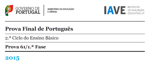 6Ano - Prova Final de Português - 19 maio 2015
